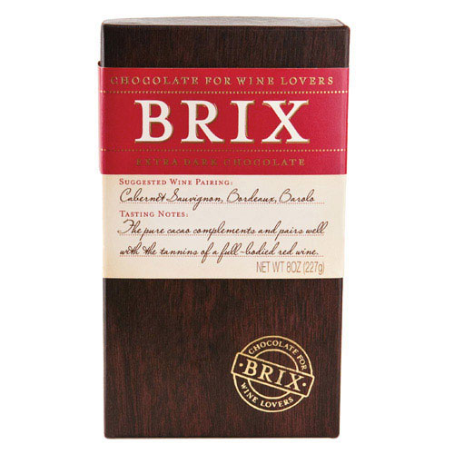 Brix Extra Dark Chocolate Bar for Wine Lovers 8 oz