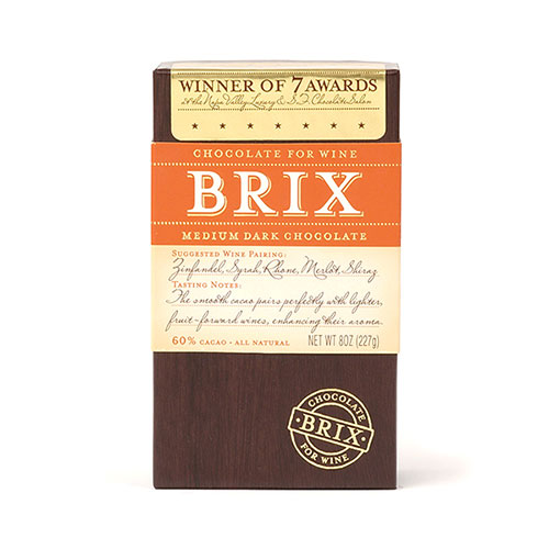 Brix Medium Dark Chocolate For Wine Lovers 8 oz